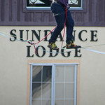 Tightrope walk at the Sundance Lodge by Martin Mellor