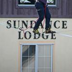 Tightrope walk at the Sundance Lodge by Martin Mellor