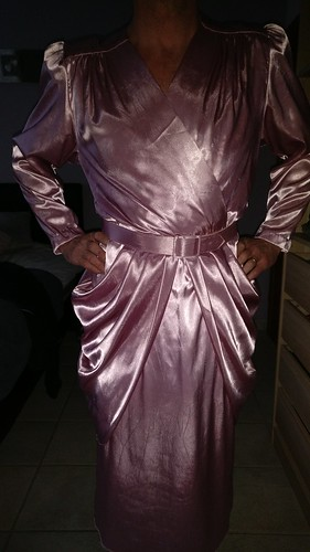 New satin dress