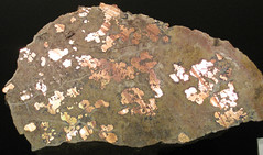 Native copper pods in garnet-pyroxene skarn (Madison Gold Skarn Deposit, Late Cretaceous, 80 Ma; west of Silver Star, Montana, USA) 8