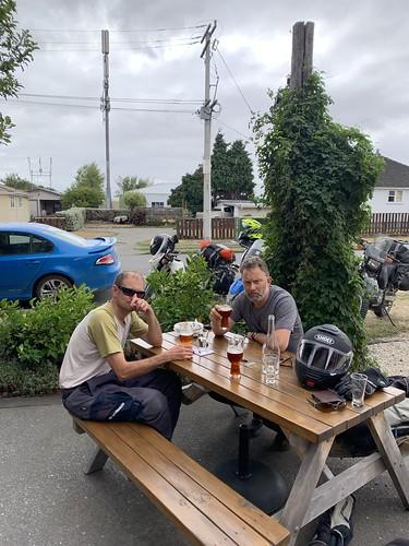 Conrad & Guy enjoying a Martinborough ale