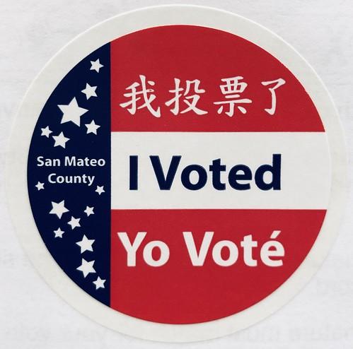 San Mateo County voting sticker