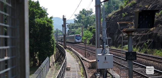 Hong Kong, university railway station - SP1900 EMU EMU or IKK Train