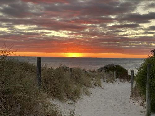 Coogee beach on a warm summer's evening