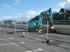 Weymouth Harbour Tramway - demolition