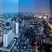 Bangkok Day to Night view from Mahanakhon