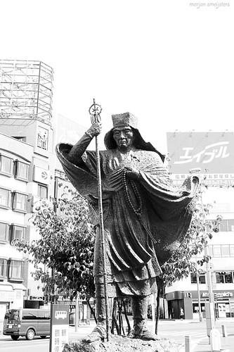 Statue of Banryū-shonin (播隆上人) - Matsumoto City, Nagano, Japan