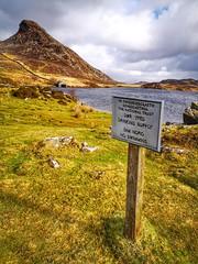 Arwydd.. Llynoedd Cregennan.. Sign