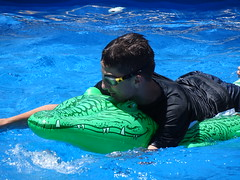 Luc on an Alligator