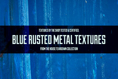 The blue rusted metal textures