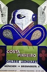 Cartaz de apresentação da Exposição de Obras de António Costa Pinheiro em Munique (1966/1967)