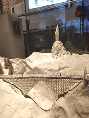 Model of Hogwarts bridge and tower