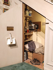 Harry Potter's cupboard under the stairs