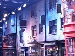 Diagon Alley movie set
