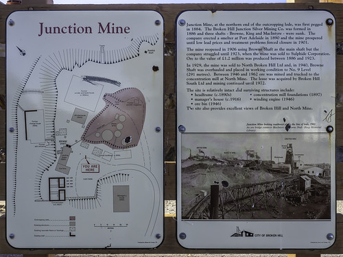 4/7 Old JUNCTION MINE and lookout over NORTH MINE - Broken Hill NSW - see below