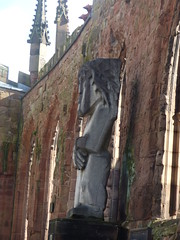 Return to the ruins of the old Coventry Cathedral - Ecce Homo sculpture