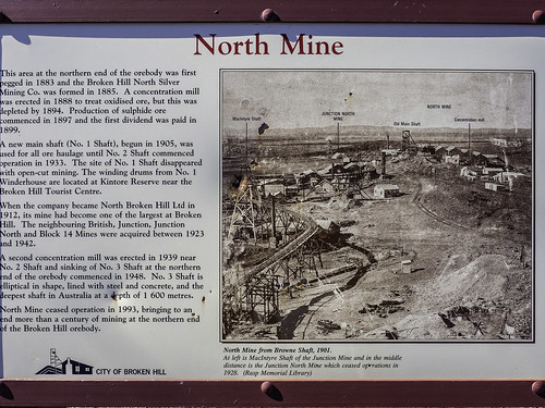 6/7 Old JUNCTION MINE and lookout over NORTH MINE - Broken Hill NSW - see below