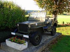 Preserved Jeep, Nod-sur-Seine, Côte-d'Or, France.