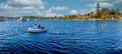 View Across Lake Macquarie from Near the Lake Macquarie Yacht Club, Belmont, Newcastle, NSW
