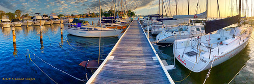 Moored Yachts at Lake Macquarie Yacht Club, Belmont, Newcastle, NSW