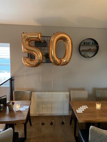 Folieballon Cijfer 50 Bonheur By Lust Barendrecht