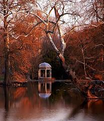 """Cincinnati - Spring Grove Cemetery & Arboretum """"DeCastro Memorial At Evening"""""""