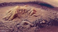 Perspektivische Ansicht des Zentralberges im Einschlagskraters Moreux