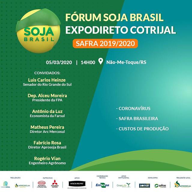 05/03/2020 Fórum Soja Brasil - 21º Expodireto Cotrijal