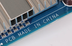 Made in China text on computer parts
