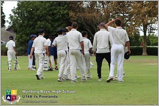 WBHS Cricket: U14A vs Pinelands