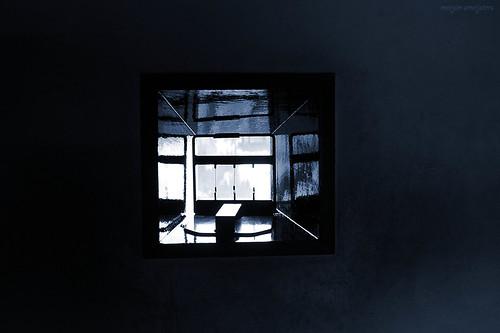Window of the Matsumoto Castle (松本城, Matsumoto-jō), Matsumoto City, Nagano, Japan