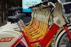 Bike Mi station @ Milan