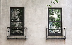 Window-framed abstracts, the East Side, Manhattan, New York
