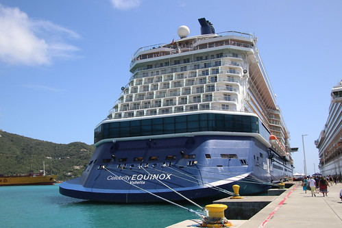 Celebrity Equinox and Costa Favolosa at port in Road Town, Tortola, British Virgin Islands - February 19th, 2020