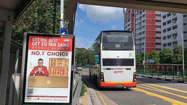 SMRT Buses - Enviro500 MMC (SMB3604Z on 991) - Rear