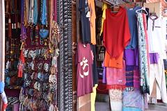 Nepalese garments on sale near the Boudhnath stupa
