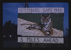 Gettysburg Game Farm billboard, Route 30, 5 miles from Fairfield, Fairfield, Pennsylvania (LOC)