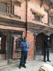 In a pensive mood after finishing off with the Lalitpur/ Patan Durbar Square