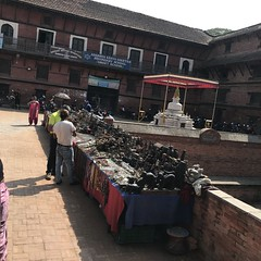 A handicrafts vendor in the periphery of the Lalitpur/ Patan Durbar Square