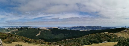Wellington and South Island in the distance