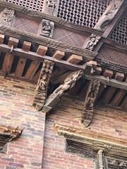 Interesting decorative beams in the Lalitpur/ Patan palace museum