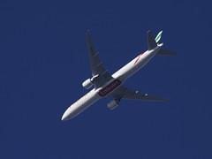 Emirates Boeing 777-31H(ER) A6-EQM DXB-STN EK65 UAE65 FL80