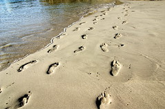 Pegadas nas praia
