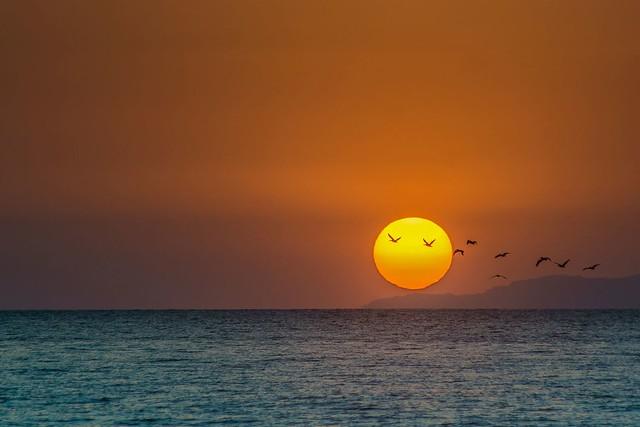 Coucher de soleil à Puntarenas, Costa Rica