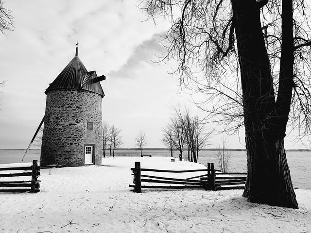 Scène d'hiver à la Pointe-du-Moulin