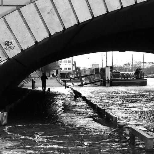 Under the flooded bridge