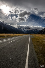 Road to Mount Cook.