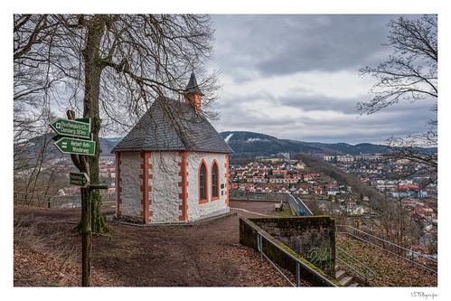 Ottilienkapelle - über den Dächern von Suhl
