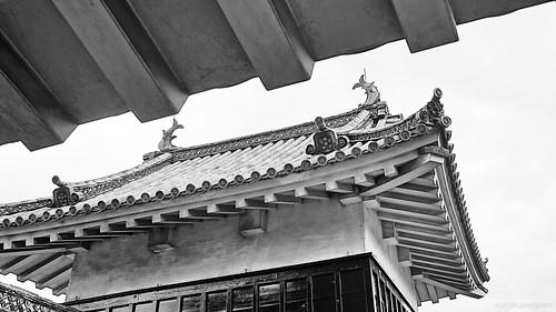 Shachihoko (鯱鉾) or Shachi (鯱) Matsumoto Castle (松本城, Matsumoto-jō), Matsumoto City, Nagano, Japan