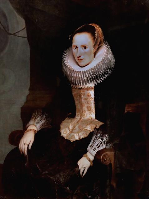 Photo:IMG_1552A Cornelis de Vos 1584-1651 Anvers  Portrait d'une jeune dame Portrait of a young lady  c 1624 Zürich Kunsthaus Portraitiste By jean louis mazieres